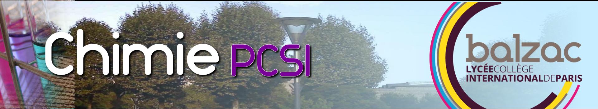 Chimie en PCSI